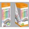 Pastel színes ceruza hegyezővel, 12 db-os - Y-Plus  Rainbow