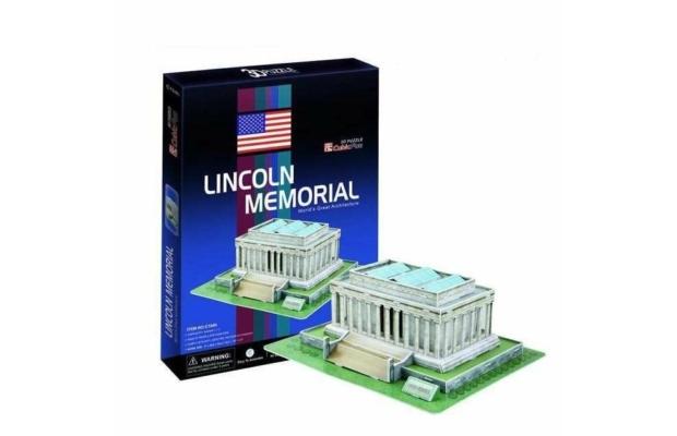 3D Puzzle közepes, Lincoln-emlékmű