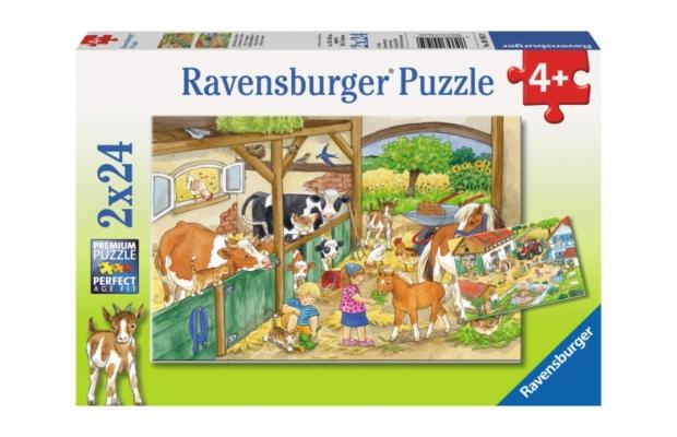 Ravensburger Puzzle 2x24 Tanyasi élet