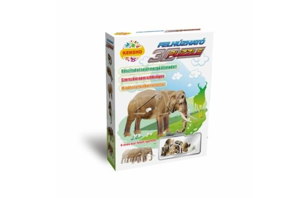 Elefánt 3D puzzle