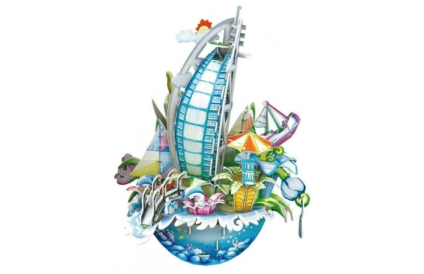 3D puzzle Dubai-persely