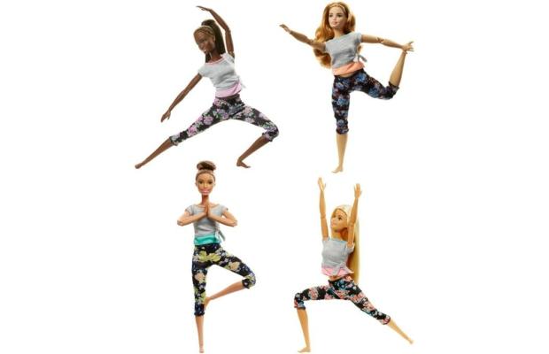 Barbie hajlékony jógababák, többféle
