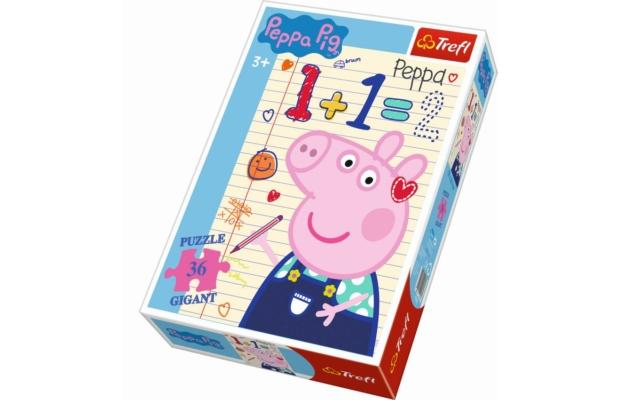 Trefl óriás puzzle - Peppa malac, 36 db-os