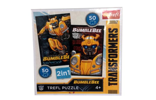 Transformers - BUMBLEBEE (Űrdongó) 2 az 1-ben puzzle 2 x 50 db-os - Trefl