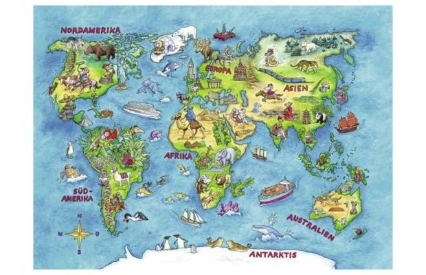 Föld körüli utazás 100 db-os puzzle - Ravensburger