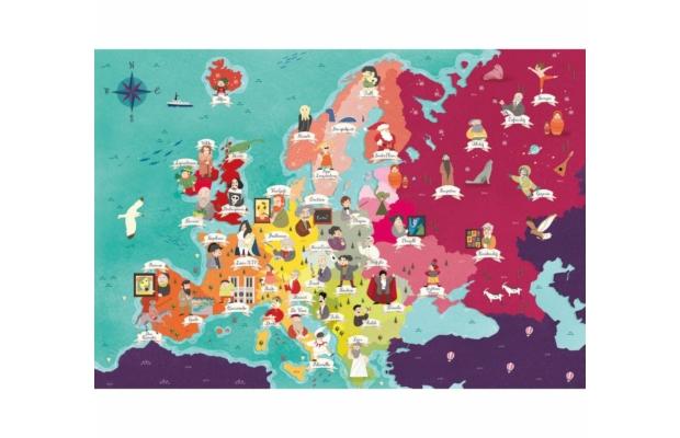 Hírességek Európában 250 db-os puzzle - Clementoni
