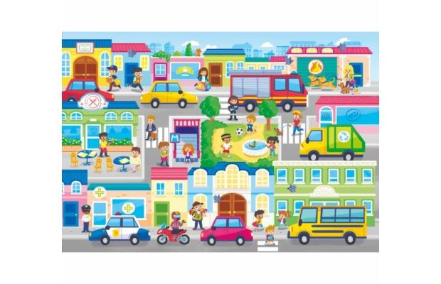 Városban 104 db-os puzzle - Clementoni