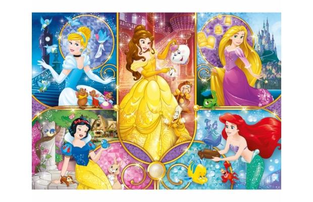 Hercegnők 104 db-os puzzle - Clementoni
