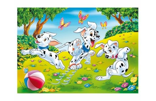 101 kiskutya 2 az 1-ben 108 db-os puzzle