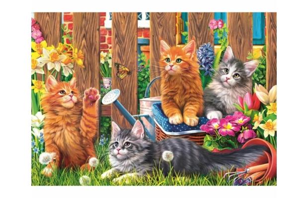 Macskák a kertben 500 db - os puzzle - Trefl