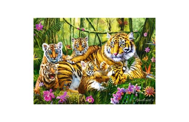 Tigris család 500 db-os puzzle - Trefl