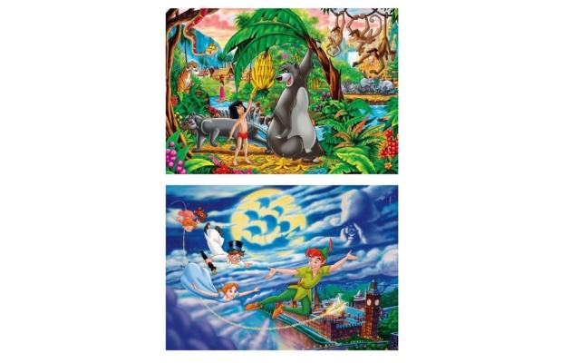 Pán Péter és Dzsungel könyve 2x60 db-os puzzle - Clementoni