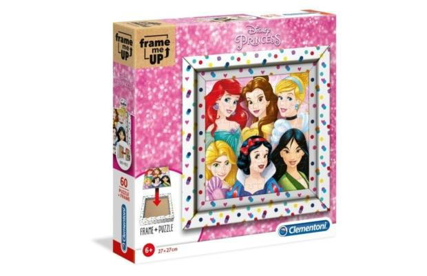 Hercegnők 60 db-os puzzle képkeret - Clementoni