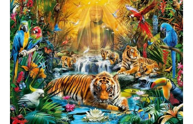 Misztikus tigrisek 1000 db-os puzzle - Clementoni