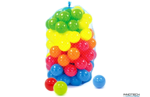 Műanyag labda hálóban 60 mm, 100 db-os