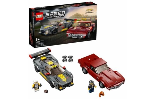 LEGO Speed Champions: 76903 Chevrolet Corvette C8.R Race Car és 1968 Chevrolet Corvette
